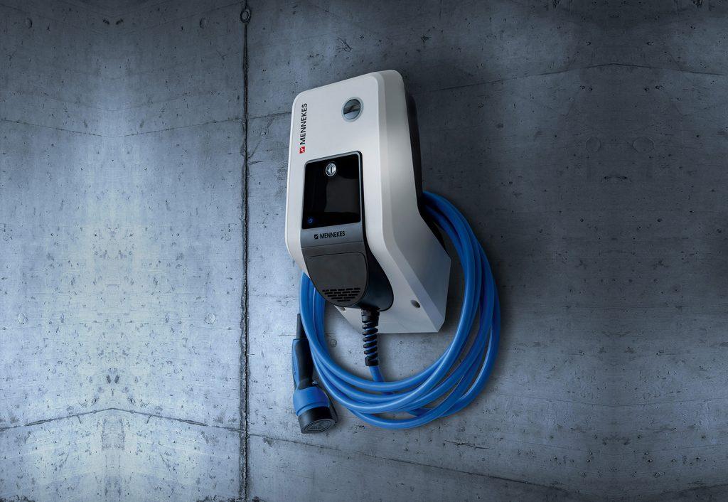 Ladestation für Elektroautos der Firma Mennekes